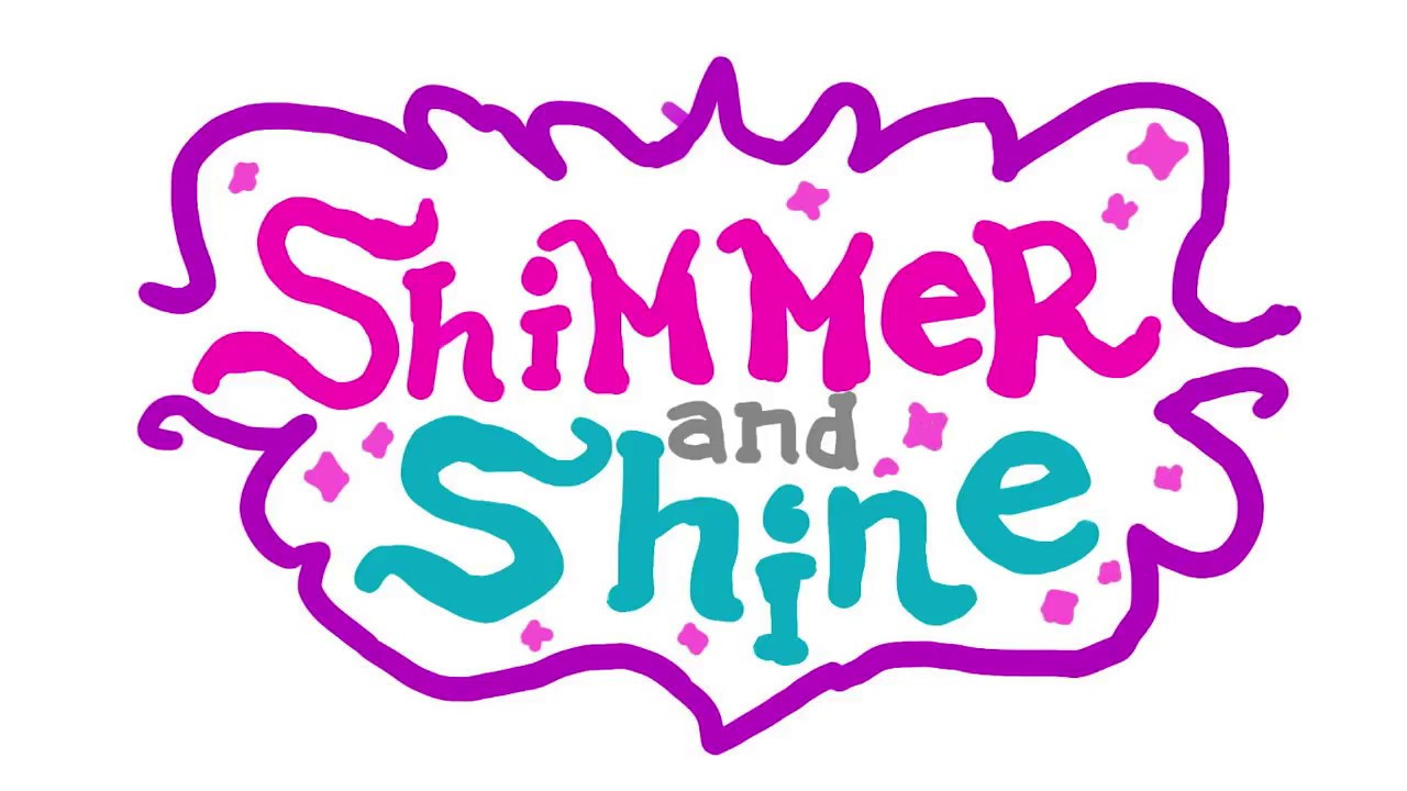 how to draw SHIMMER AND SHINE logo from NICK JR.