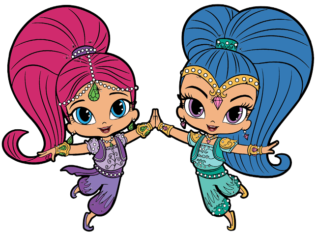 Shimmer and Shine Clipart Images.