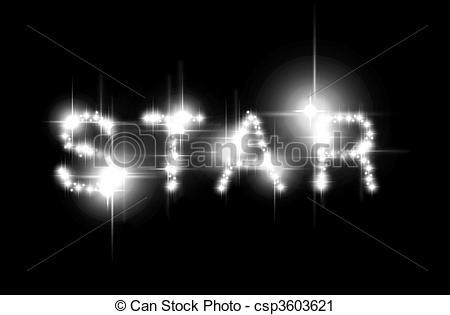 Clipart of Star spelled.