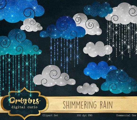 Shimmering Rain Clipart ~ Illustrations on Creative Market.