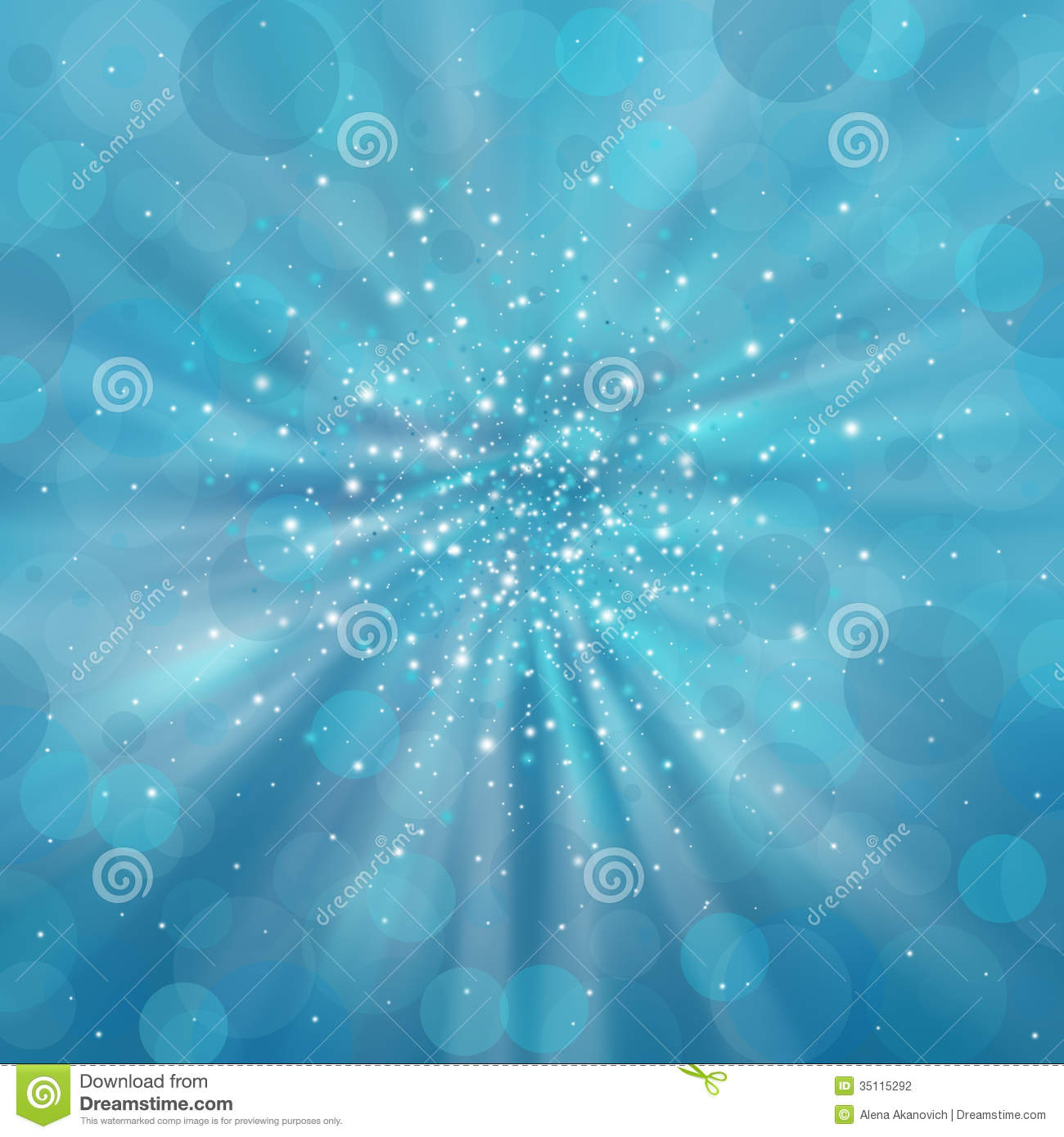 Blue Shimmering Background Stock Photography.