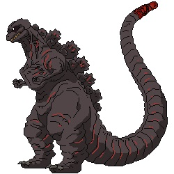 Shin Godzilla sprite by LordOrga on DeviantArt.
