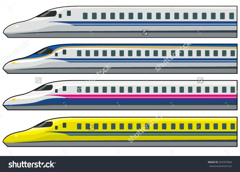 Shinkansenvectorillustrations Stock Vector 354767846.