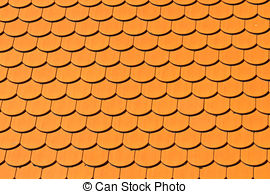 Stock Images of Red Shingles.