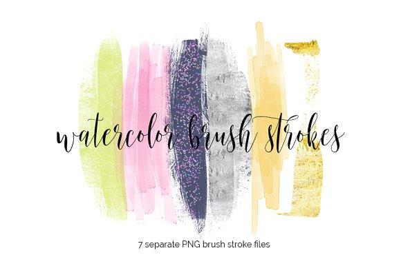 Brush Strokes Clipart.