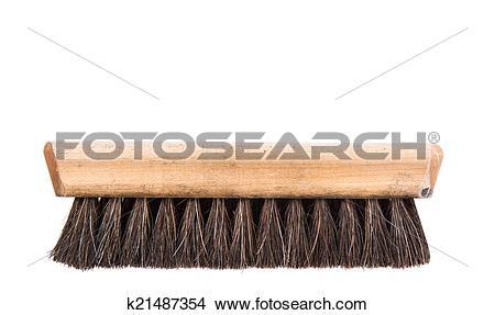 Stock Photo of Wooden Shoe Shine Polish Brush k21487354.