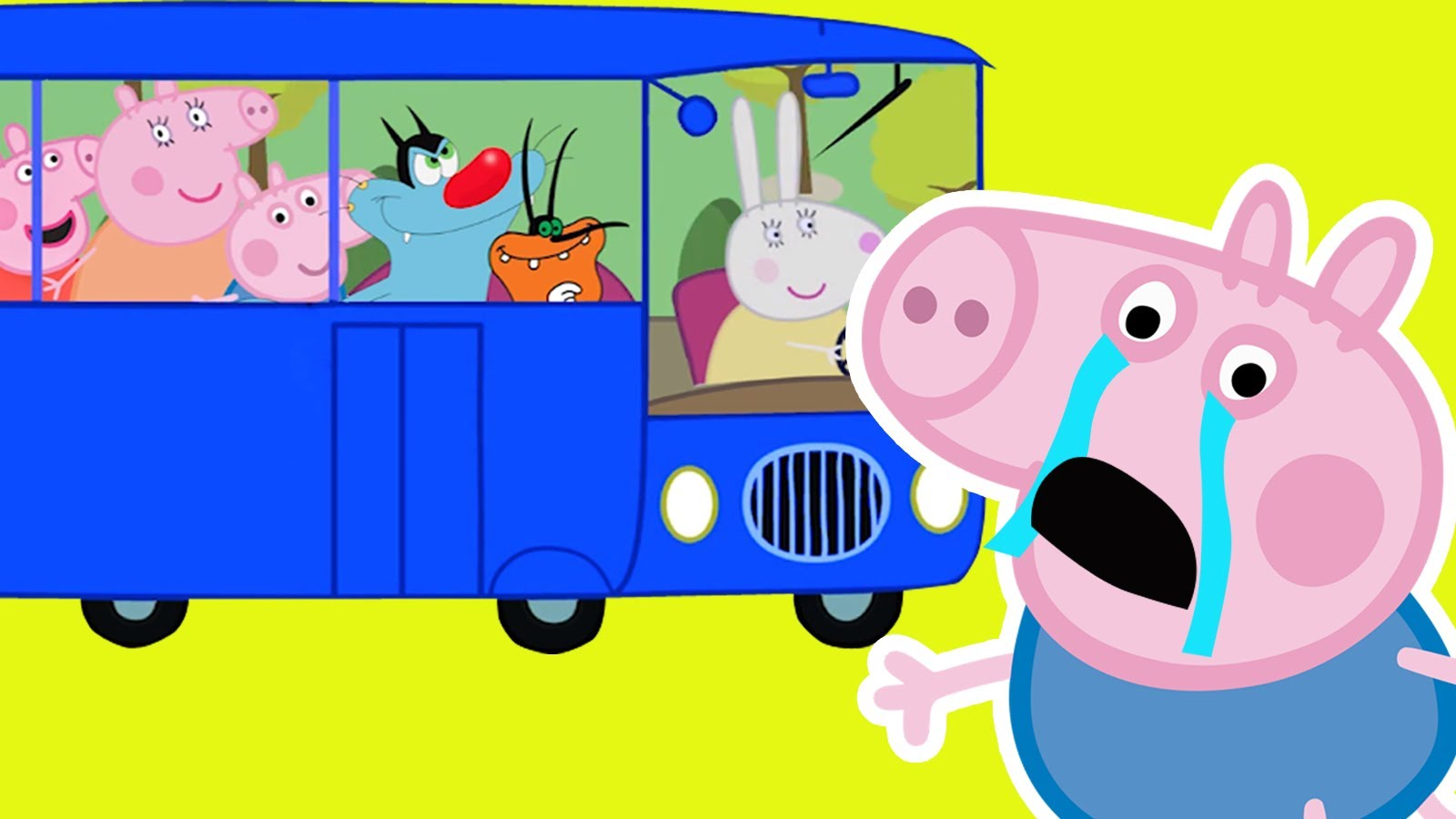 PEPPA PIG CRYING WHEELS ON THE BUS #PAW PATROL #OGGY #SHIMMER AND.