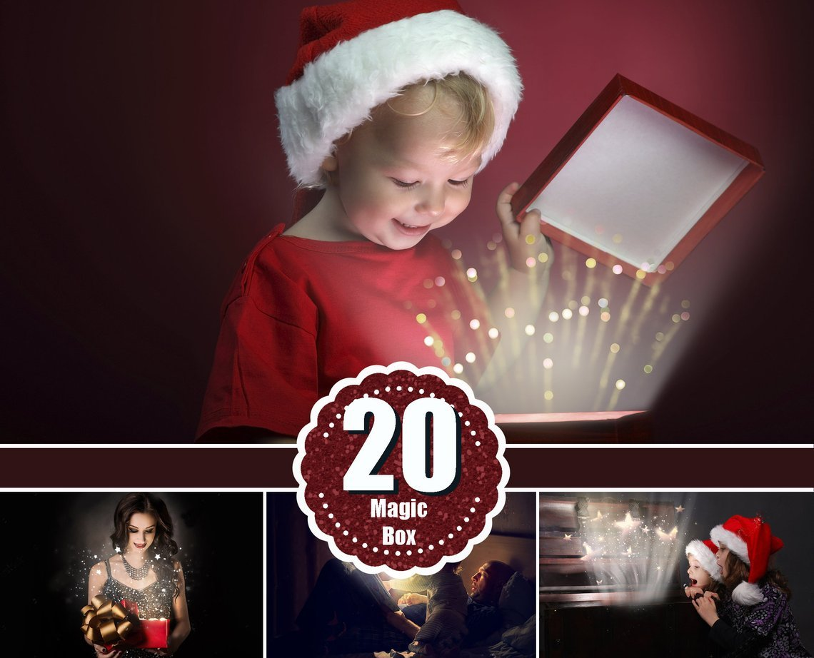 Magic shine Box book light overlay, candle, fairy effect, Photoshop  overlays, Christmas present, clipart, wedding, holiday, sparkles, png.