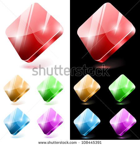 Round Colorful Diamond Stone Shine On Stock Vector 113495401.