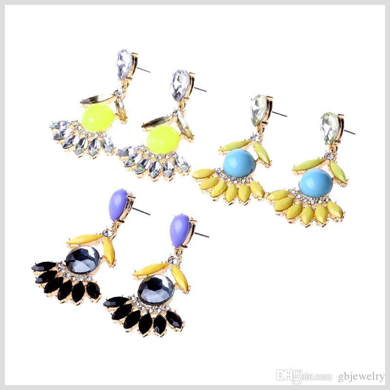 2017 Gbjewelry ,Silver Plate,Shine Stone Earirngs Set,Three.