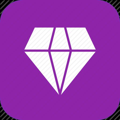 Diamond, gem, jewel, rich, ring, shine, stone icon.