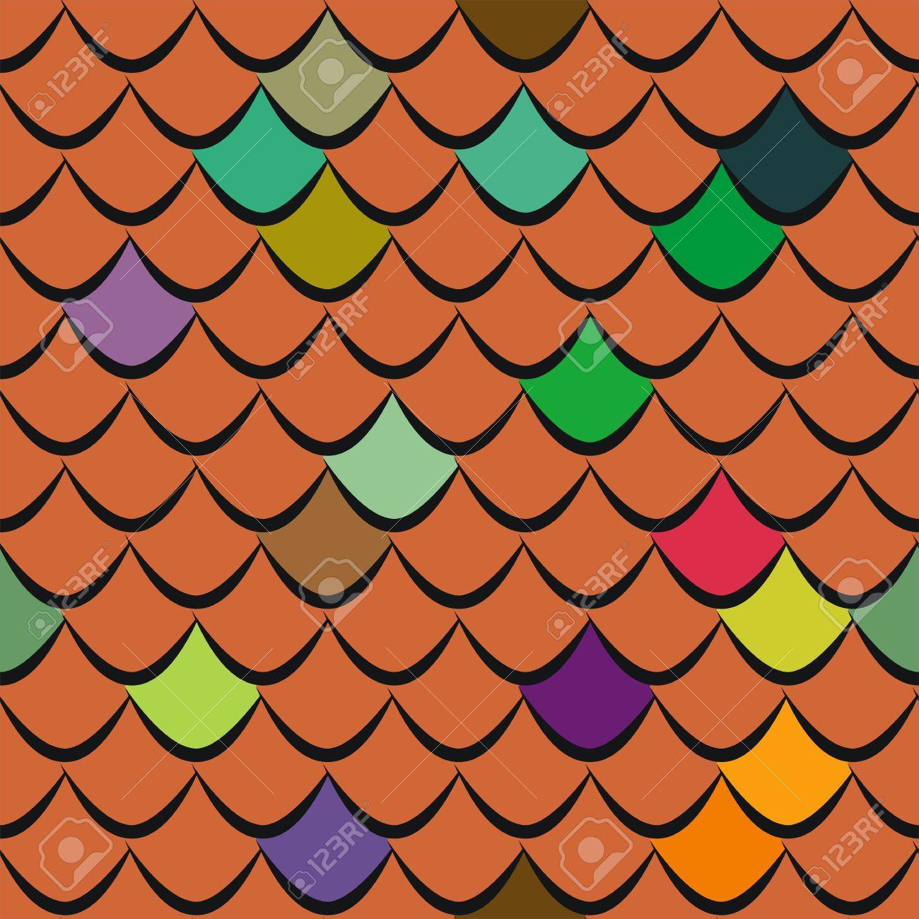 Roof Tiles Seamless Pattern Royalty Free Cliparts, Vectors, And.
