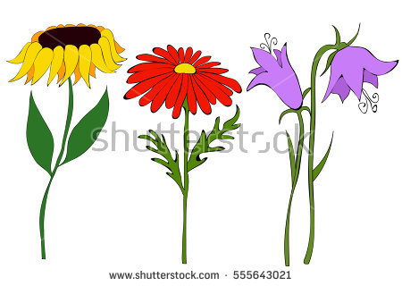 Flower Cartoon Stock Images, Royalty.