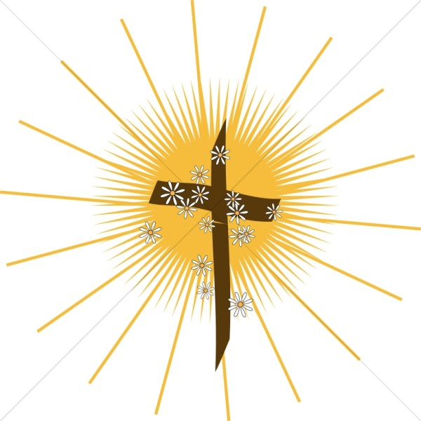 Shining Cross with Daisies.