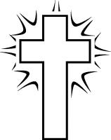 Black & White Shining Cross.