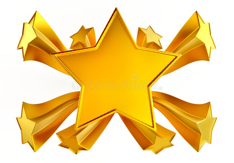 Shining Gold Star Clipart.