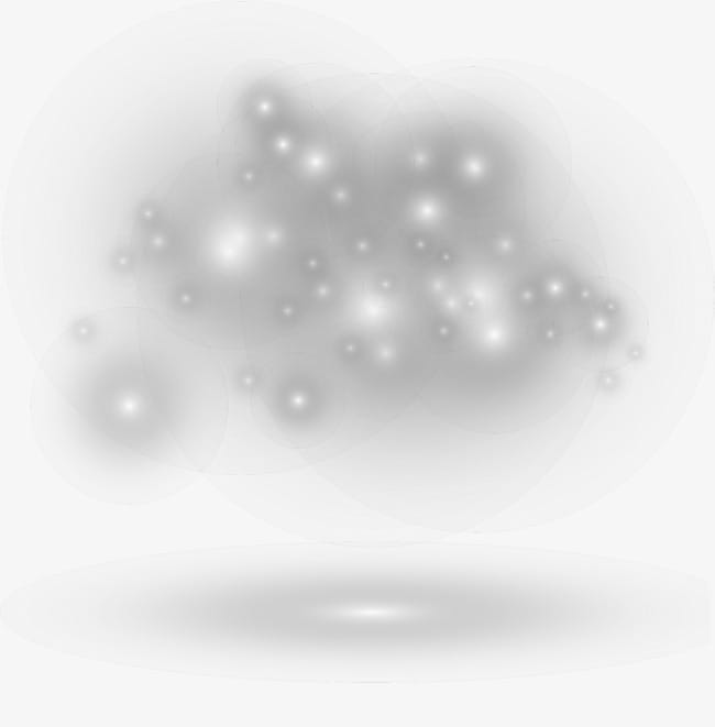 Silver shining light PNG clipart.