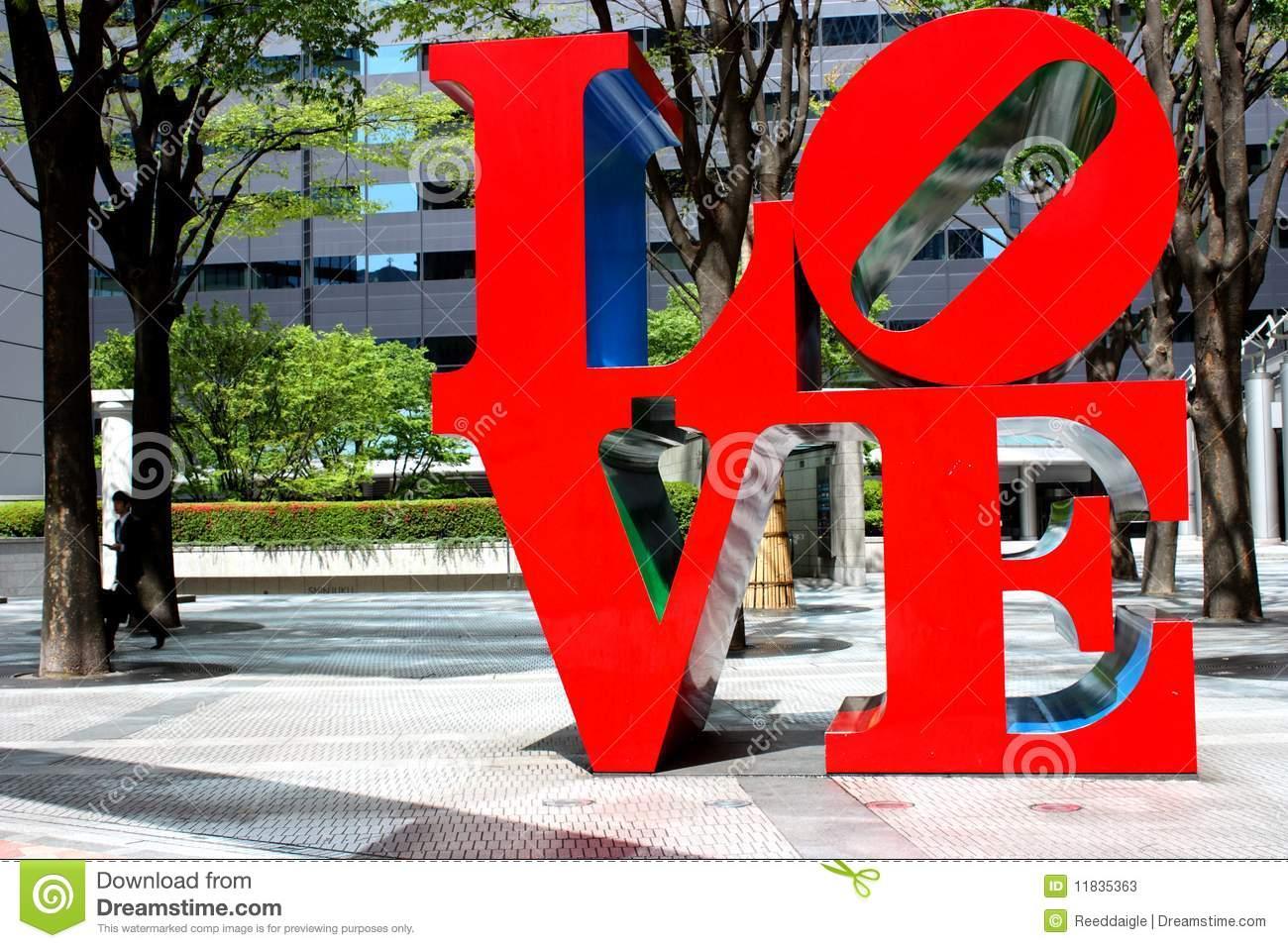 LOVE Sculpture In Shinjuku Editorial Photography.