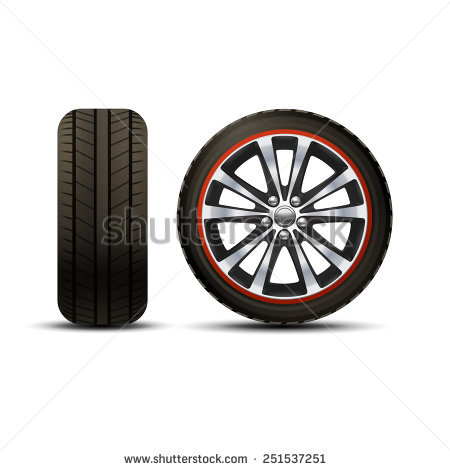 Tires And Wheels Stock Images, Royalty.