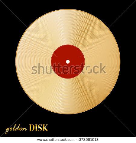 Gold Disk Stock Photos, Royalty.