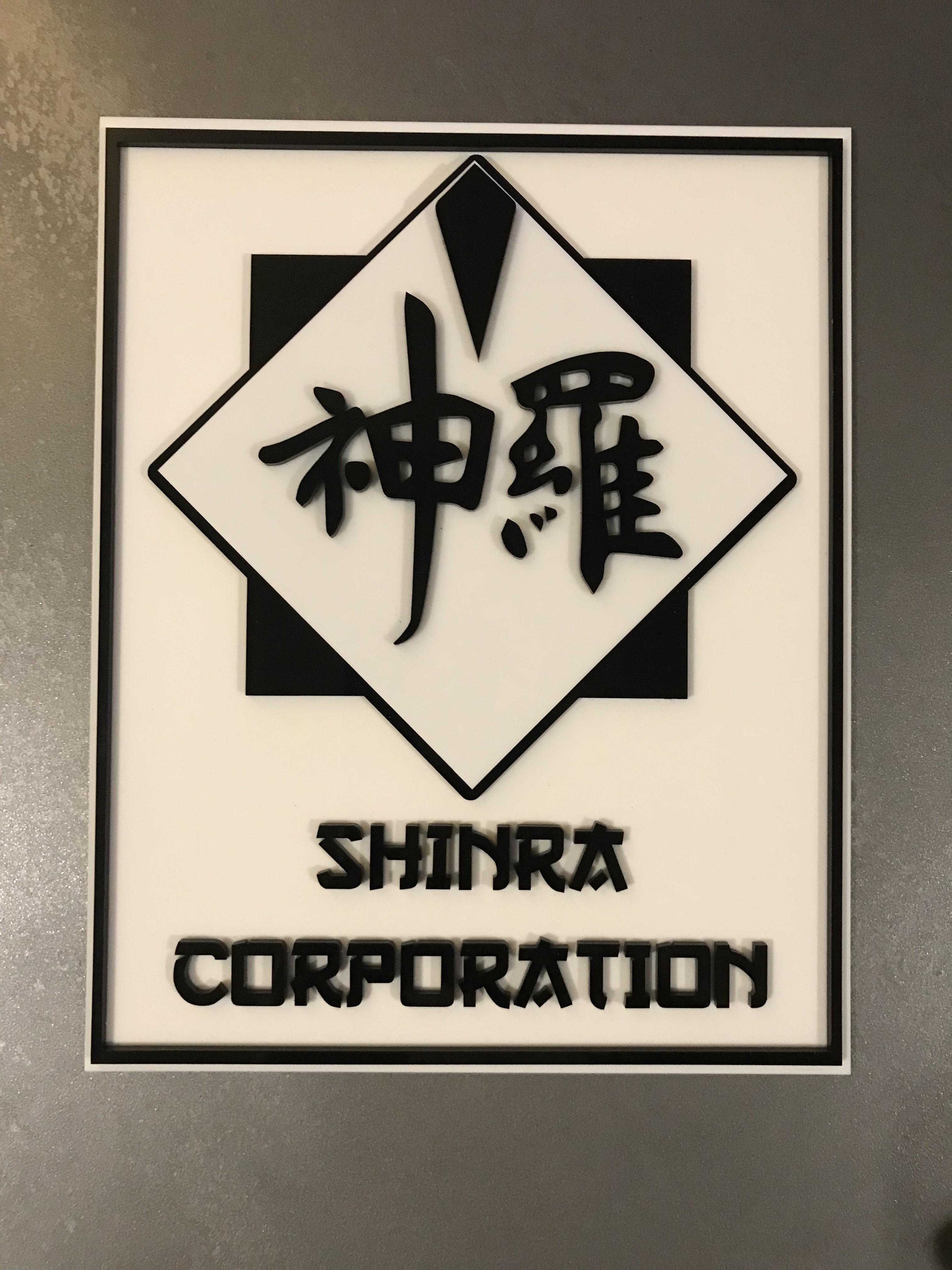 Shinra Corporation Logo lasercut acrylic : FinalFantasy.