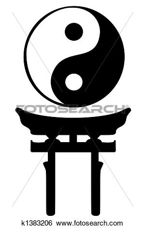 Stock Illustration of Shinto religious symbols k1383206.