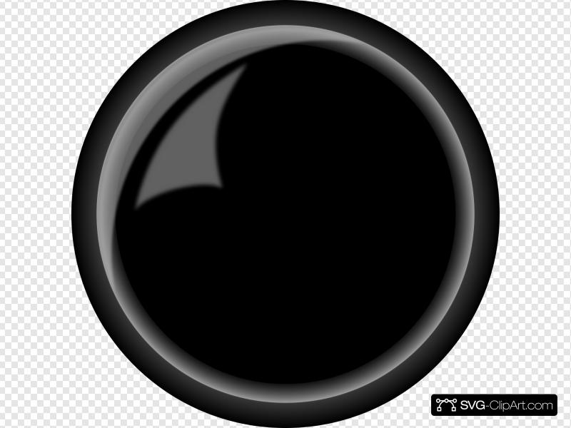 Round Shiny Black Button Clip art, Icon and SVG.