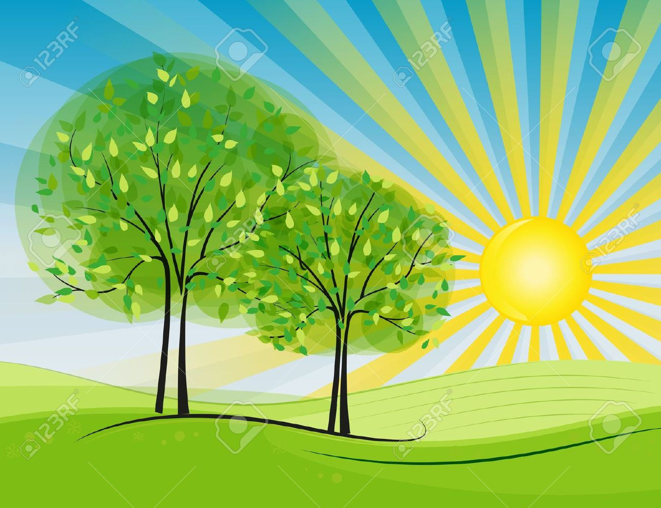 Sunny day clipart.