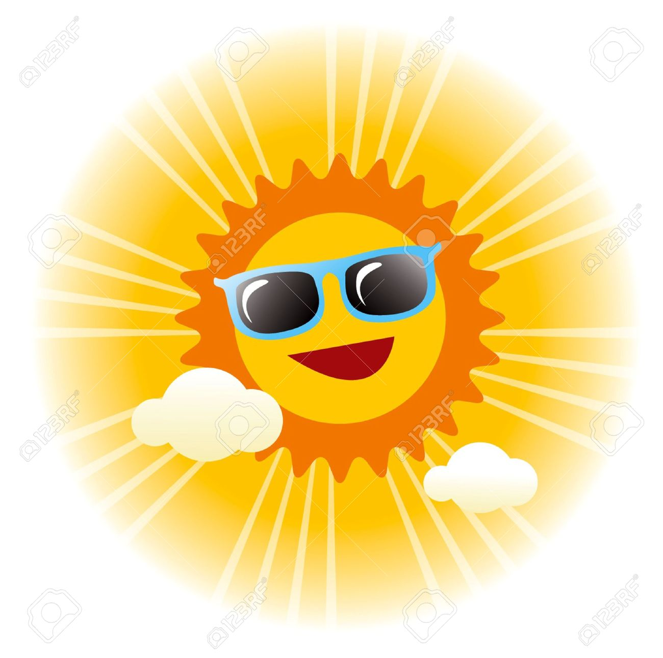 Summer Sunny Day Vector Graphic Royalty Free Cliparts, Vectors.