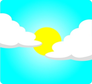 Clip Art Sun Shiny Day.