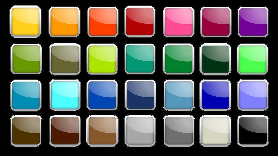 Free photo Square Icon Colorful Shiny Edge Button.