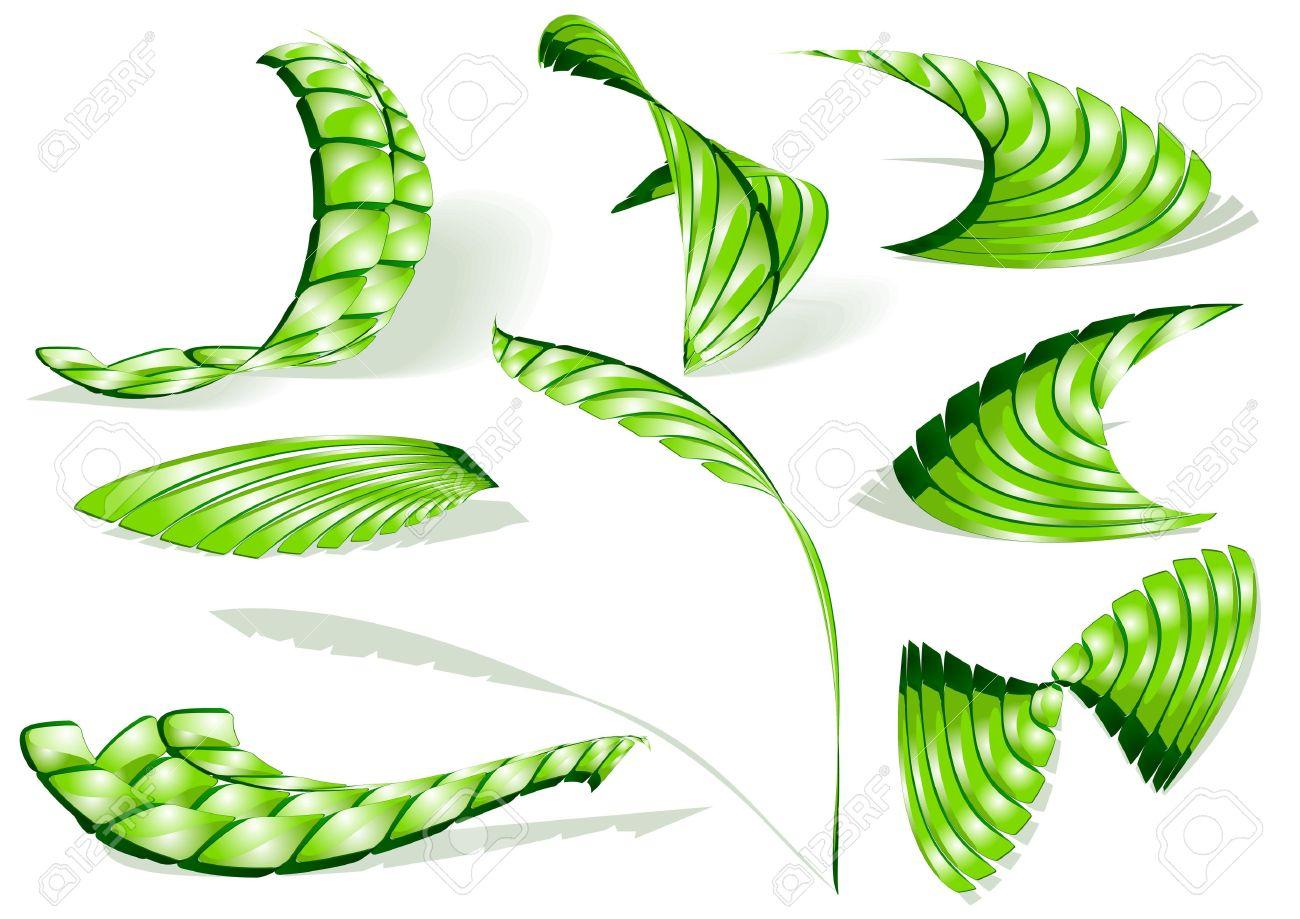 Green Shiny 3d Abstract Icons Royalty Free Cliparts, Vectors, And.