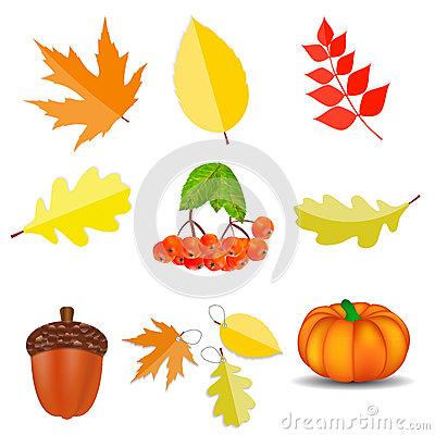 Shiny Season Icons Royalty Free Stock Image.