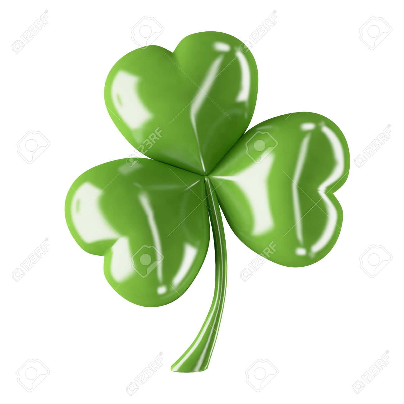 3d Shiny Leaf Clover For Your St.Patrick Stock Photo, Picture And.