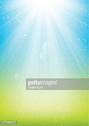 Shiny light on blue background Clipart Image.