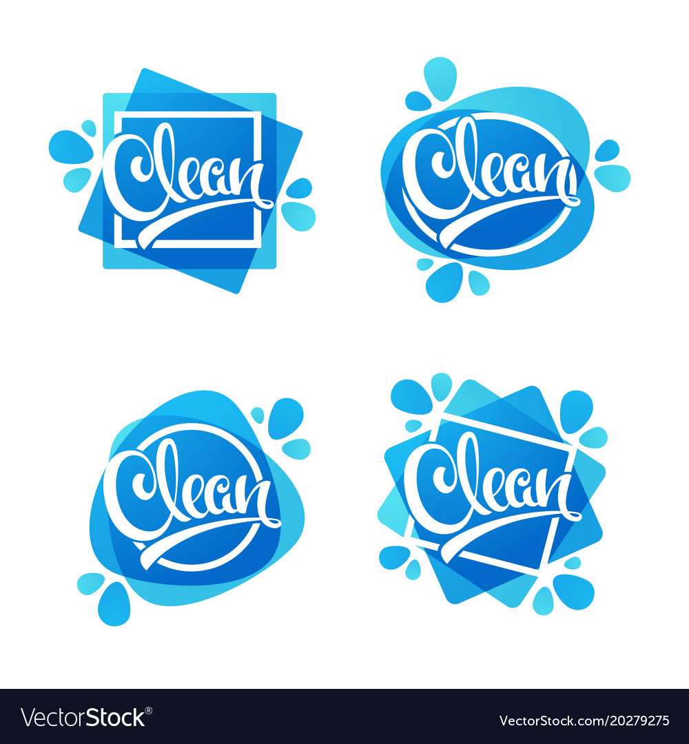 Shiny and glossy clean lettering logo label or.