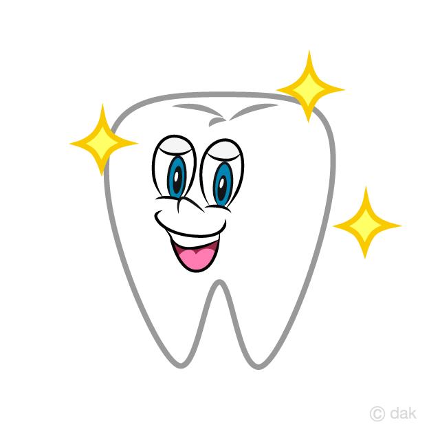 Free Shiny Tooth Cartoon Image|Illustoon.