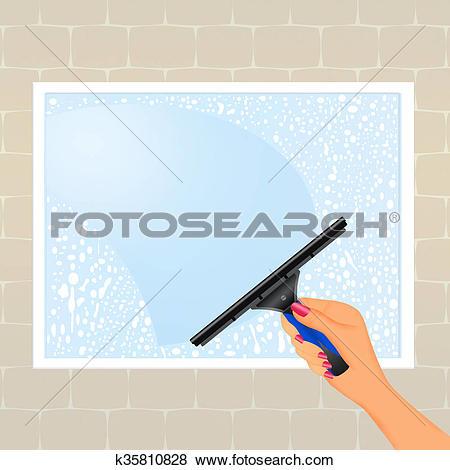 Stock Illustration of Clean shiny windows k35810828.