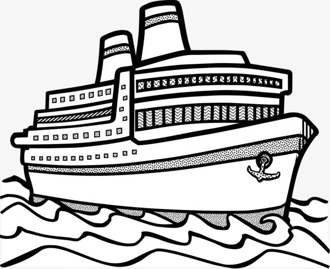 Ship black and white clipart 3 » Clipart Station.