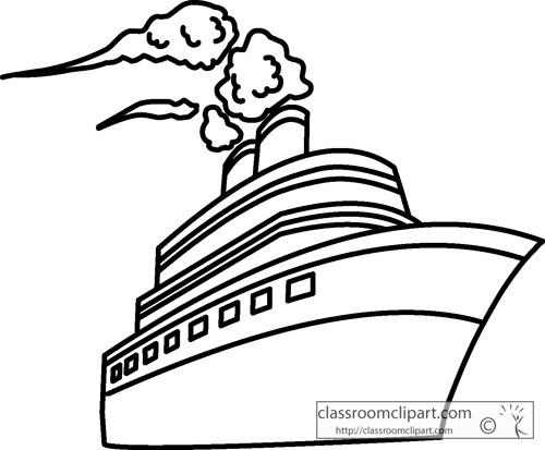 Clipart black and white ship 1 » Clipart Portal.