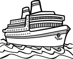 Ship Clipart Black And White.