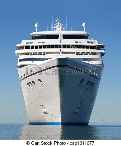 Picture of cruise ship bow.