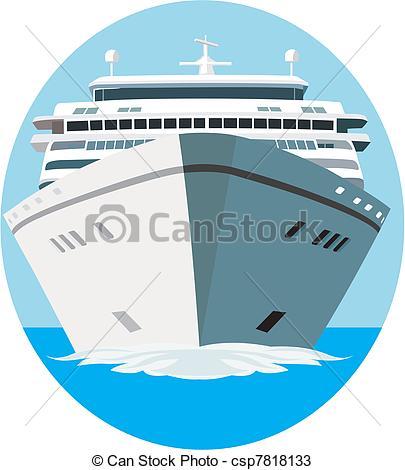 Vectors of Cruise ship in vector csp7818133.