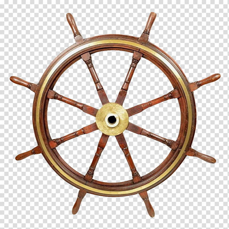 brown wooden ship helm transparent background PNG clipart.