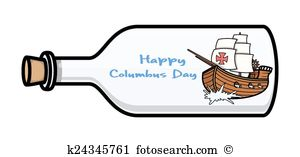 Ship in a bottle clipart #17