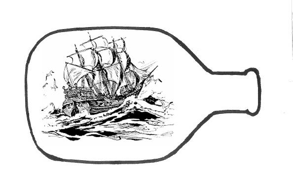 Shoregirl's Creations: Ship in a Bottle.