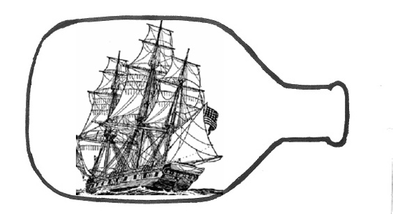 Ship in a bottle clipart #20