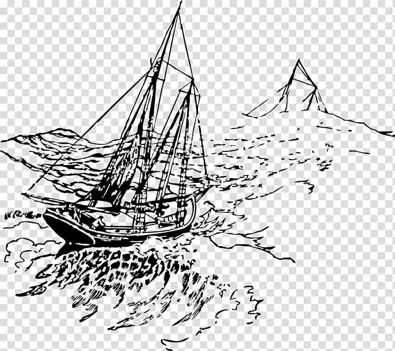 Sailing ship Storm , Ship transparent background PNG clipart.