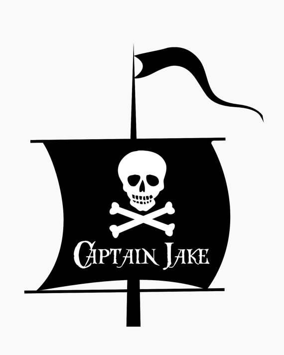 Items similar to Pirate Wall Decal.