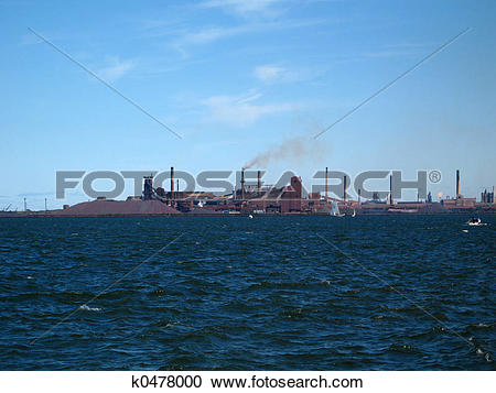 Stock Photography of steel mill k0478000.